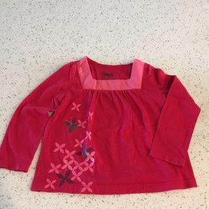 3/$15 Circo Red Long Sleeve Tee with Butterflies